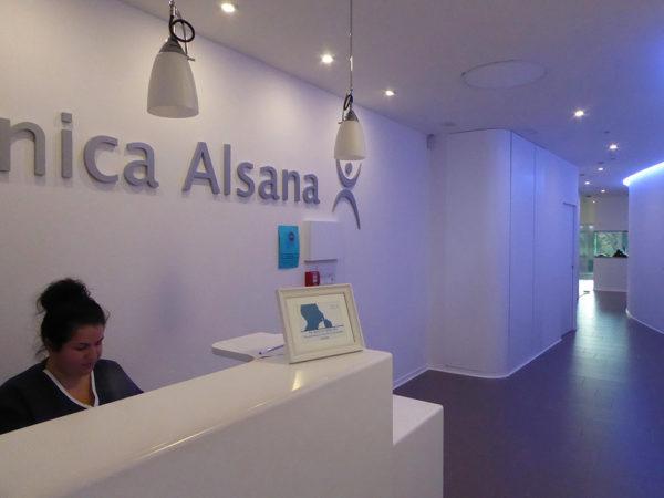 Clínica Alsana recepción 2